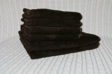 6 tlg handtuch set bambus dunkelbraun. Black Bedroom Furniture Sets. Home Design Ideas