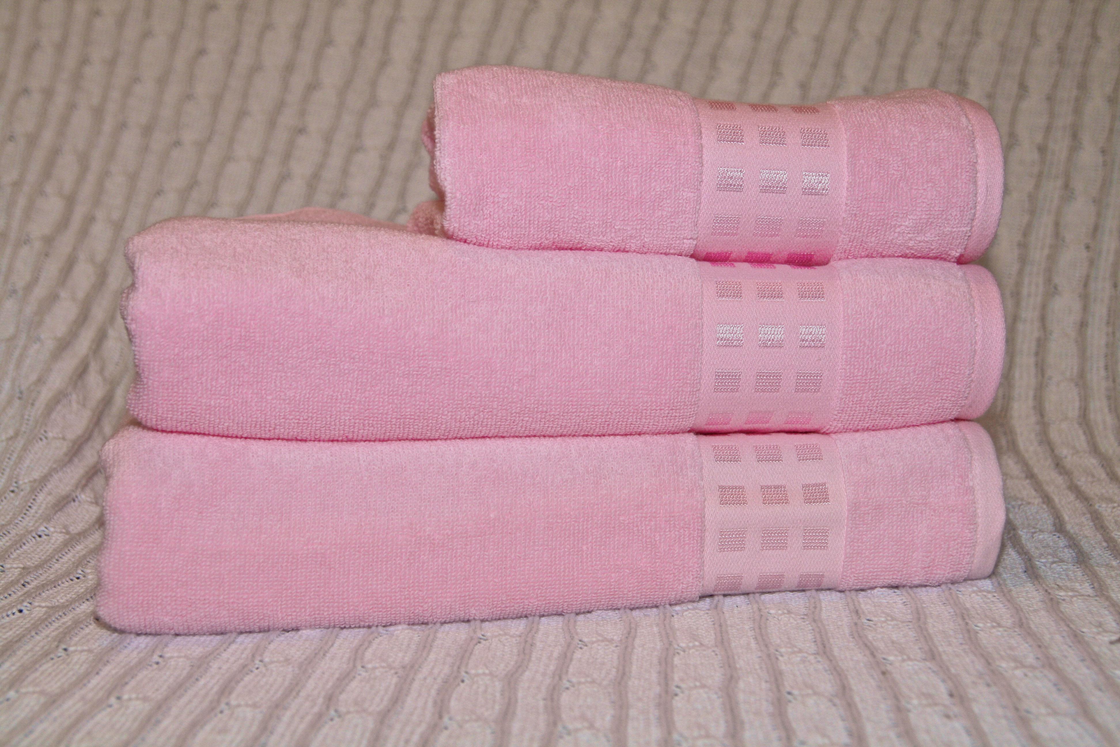 3 tlg handtuch set atlas rosa. Black Bedroom Furniture Sets. Home Design Ideas